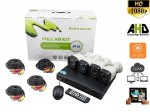 Kit Videosorveglianza Smart AHD 4 telecamere 2 MPX e ADVR 5 in 1 Pronto all'uso