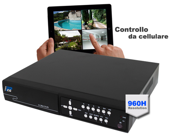 Digital Video Recorder 960H controllo da cellulare