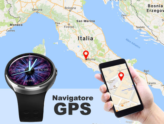Smart Whatch 3G GPS quad core esempio mappa