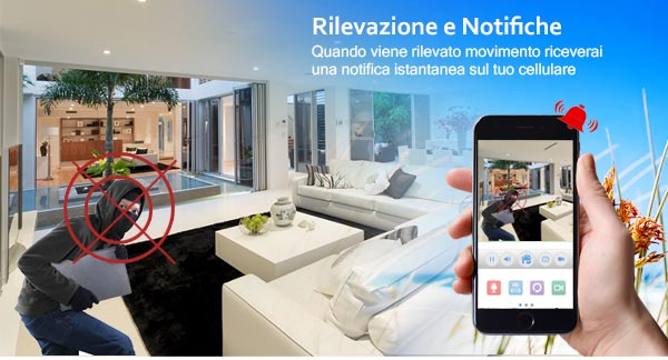 Notifica Push e rilevazione di movimento