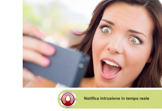 Notifica push intrusione in tempo reale